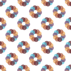 Seamless Colorful Abstract Pattern from Repetitive Concentric Circles