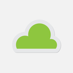 simple green icon - cloud
