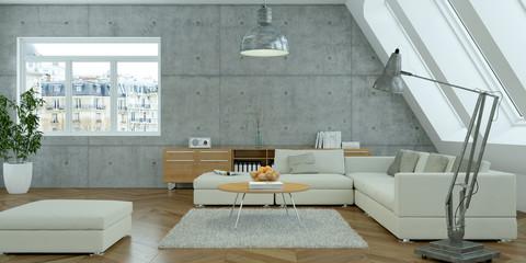 moderne Dachgeschoß Wohnung