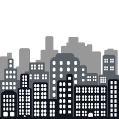Seamless vector illustration of city in flat style