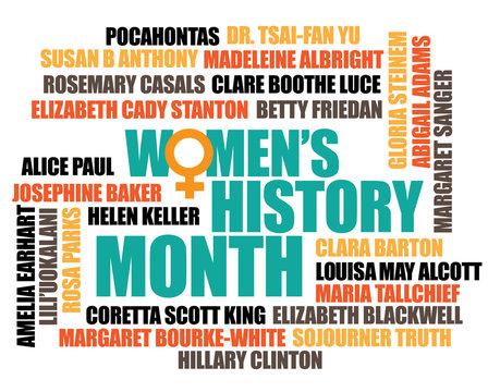 Women's history month. EPS 10 vector.