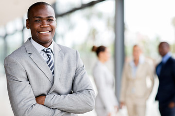 black businessman executive looking at the camera