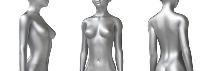 Corpo donna frontale profilo magro armonioso