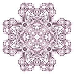 Vector decorative round element.