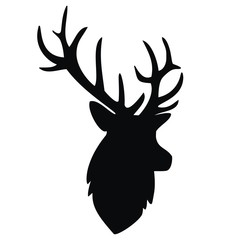 deer, black silhouette