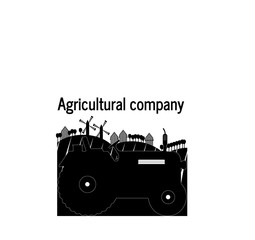 logo tractor agricultural company farm land