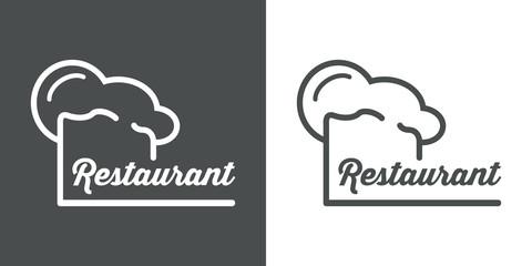 Icono plano gorro de cocinero y restaurant #1