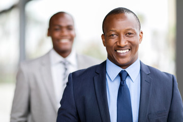 african businessman close up portrait