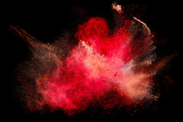Colorful Dust Particle Explosion Isolated on Black