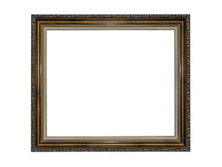 Picture frame isolated on white.