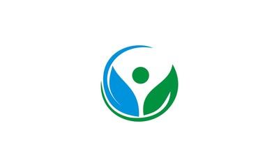 eco green leaf beauty logo