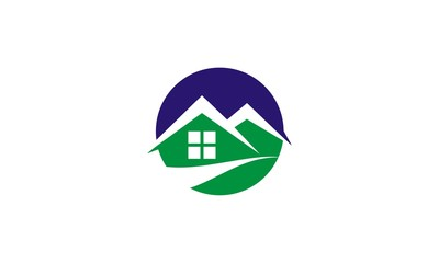 home green environment logo