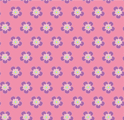 wild rose flowers polka dot on pink background seamless vector pattern