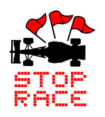 stop race red flag