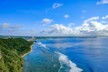 グアム 恋人岬からのタモンビーチ -Guam Tumon Beach