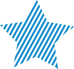 Star blue small stripes
