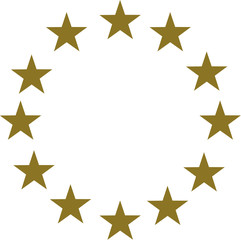 Gold stars in circle