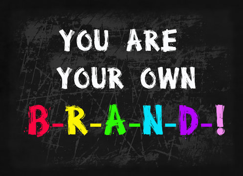 you are your own brand word on blackboard