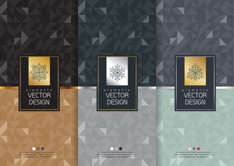 Vector set of templates packaging