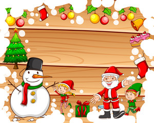 Border design with christmas theme