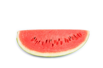sweet ripe watermelon on white background