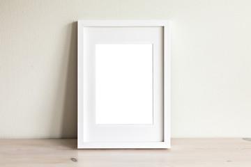 Vertical white frame mockup