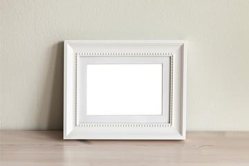 White horizontal mockup frame.