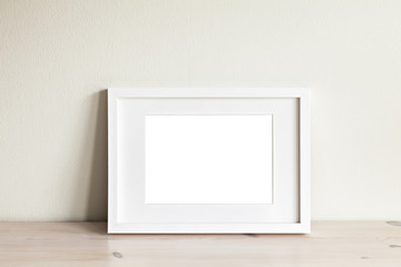 Horizontal white frame mockup