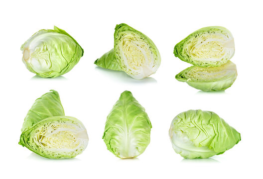 Cabbage isolated on the white background