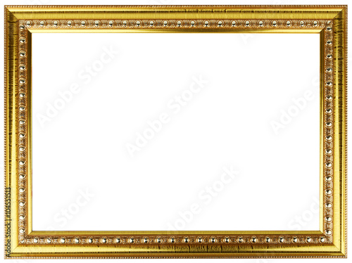 Gold Vintage Frame Isolated On White Gold Frame Louis Abstract