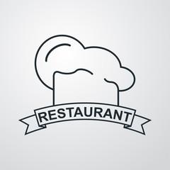 Icono plano Restaurant sobre fondo degradado #2