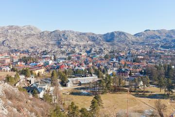 View of Cetinje city, Montenegro