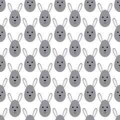Pattern with Easter bunnies