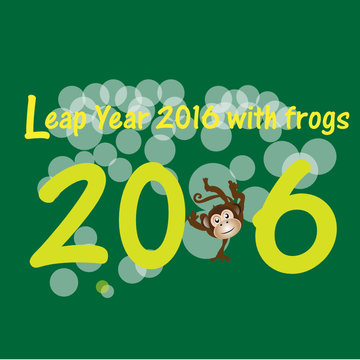 Leap Year 2016 with frogs