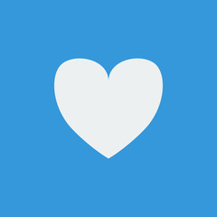 Favorite icon, on blue background, white outline, large size sym