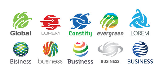 Technology Logo Design Set V.4