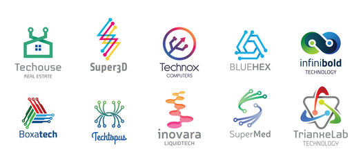 Technology Logo Design Set V.2
