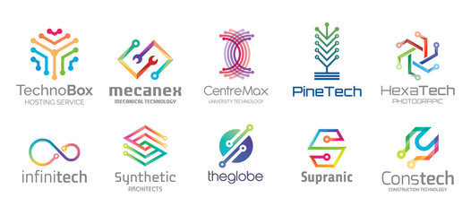 Technology Logo Design Set V.1