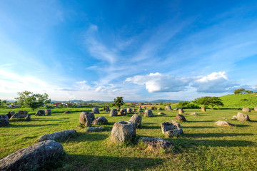 Plain of jars in Phonsavan, Xiengkhuang, Laos