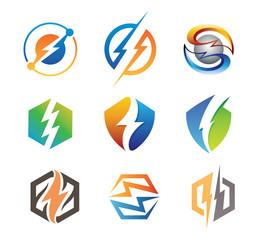 Electrical Web Icon Set