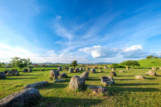 Plain of jars in Phonsavan, Xiengkhuang, Laos