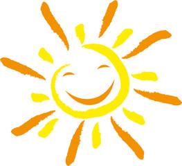 Sonne und Lächeln, Gesicht, Lachen