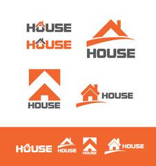 House real estate logo icon set
