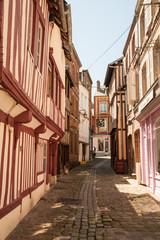 Rue des Lingots in Honfleur, France