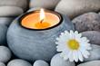 Wellness Kerze und Blume