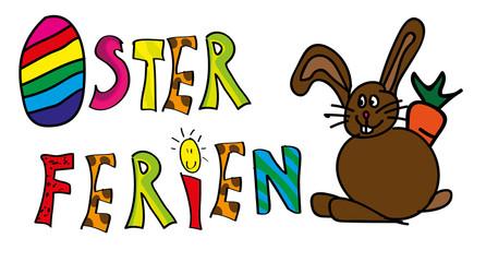 Osterferien Kinderzeichnung Vektor