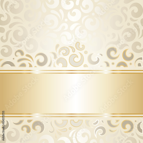Quot Retro Wedding Background Wallpaper Design Ecru Amp Gold