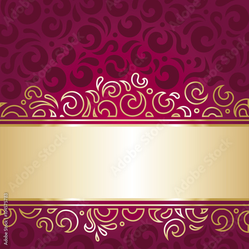 Royal Red And Gold Luxury Vintage Invitation Wallpaper Decorative Design
