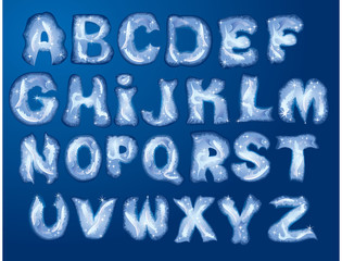 Alphabet Merry Christmas and New Year - letters are made by hoa