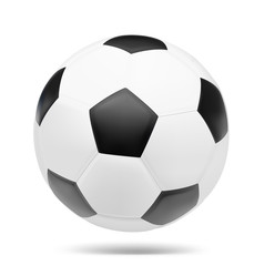 Soccer ball on white background. Vector illustration. Football. It can be used to design infographics, magazines, promo, stores, etc.
